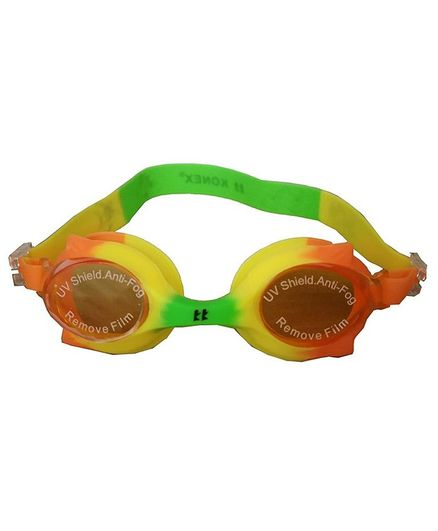Tahanis Anti Fog UV Protected Silicone Swimming Goggles - Multi Color