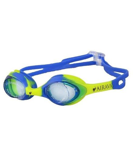 Tahanis Anti Fog UV Protected Silicone Swimming Goggles - Yellow