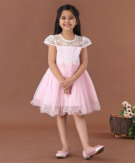Mark & Mia Cap Sleeves Party Frock  - Pink