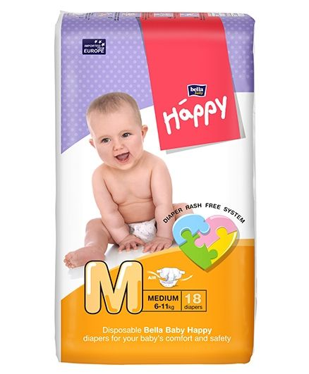 Bella Baby Happy Diapers Medium - 18 Pieces