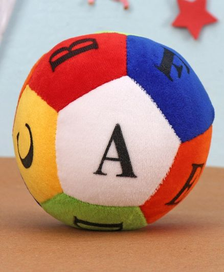 Dimpy Stuff Colorful Soft Ball Alphabets Soft Toy Multcolor - Circumference 14 cm