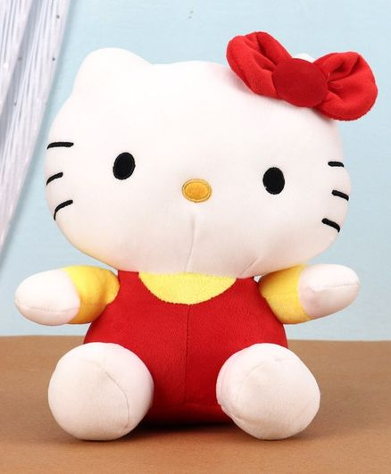 Dimpy Stuff Hello Kitty Soft Toy Red White - Height 25 cm