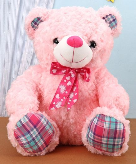 Dimpy Stuff Sitting Bear Soft Toy Pink - Height 48 cm