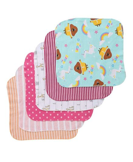 BUMZEE Assorted Print Pack Of 6 Napkins - Multi Color