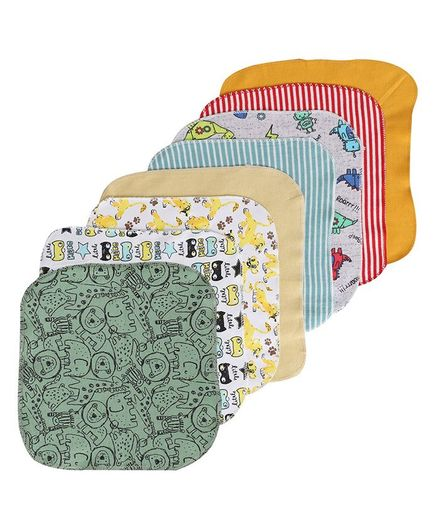BUMZEE Assorted Print Pack Of 8 Napkins - Multi Color