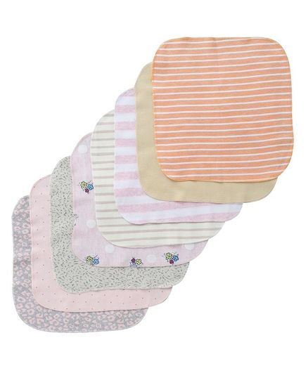 BUMZEE Assorted Striped Pack Of 8 Napkins - Multi Color