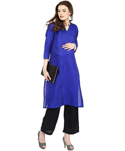 428302fd22c77 Mamacouture Maternity Kurta Royal Blue Online in India, Buy at Best ...
