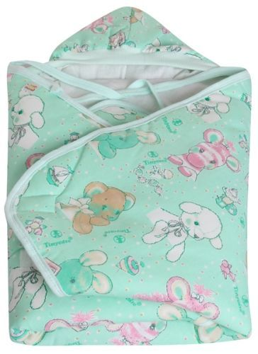 Tinycare Hooded Baby Blanket - Green