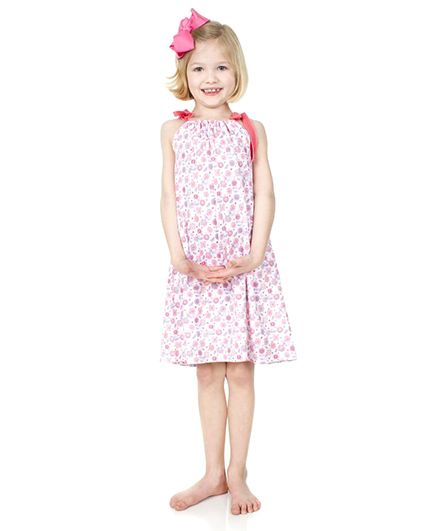 juDanzy Flower Print Dress - Pink