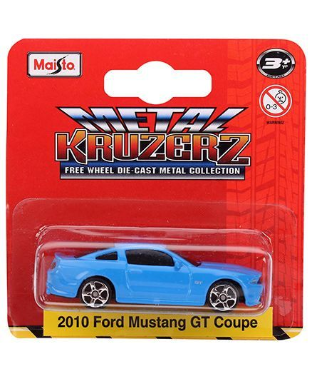 Maisto Die Cast Free Wheel 2010 Ford Mustang Gt Coupe Die Cast Car - Blue