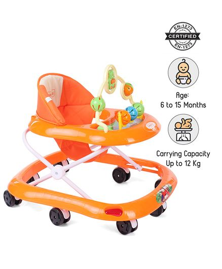 d63a582b34c9 Babyhug Jolly Stroll Baby Walker With Music Orange Online in India ...