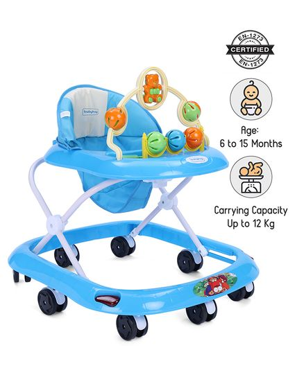 39792812b88e2a Babyhug Jolly Stroll Musical Walker With 4 Level Height Adjustment - Blue