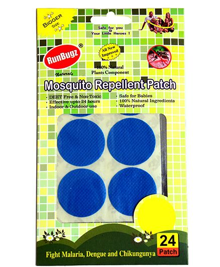 RunBugz Mosquito Repellent Patch Blue - Pack Of 24
