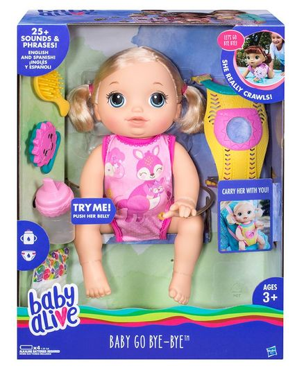 e12731cb4e0e Baby Alive Baby Go Bye Bye Pink 13 Inches Online India, Buy Dolls ...