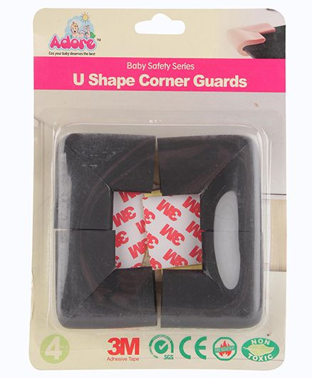 Adore Baby U Shape Corner Guard - Black