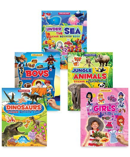 Sticker Activity Book pack of 5