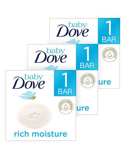 Baby Dove Baby Soap Bar Rich Moisture - 50 gm (pack of 3)