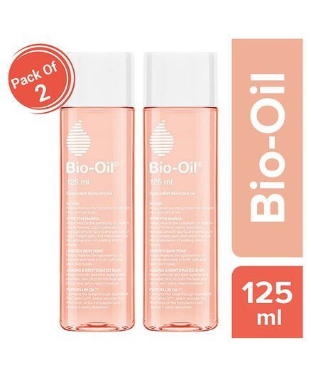 Bio Oil - 125 ml Pack of 2 (Specialist Skin Care Oil - Scars, Stretch Mark, Ageing, Uneven Skin Tone)