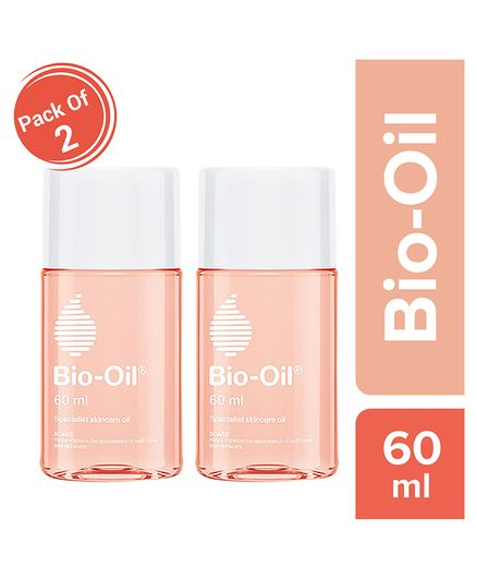 Bio Oil - 60 ml Pack of 2 (Specialist Skin Care Oil - Scars, Stretch Mark, Ageing, Uneven Skin Tone)