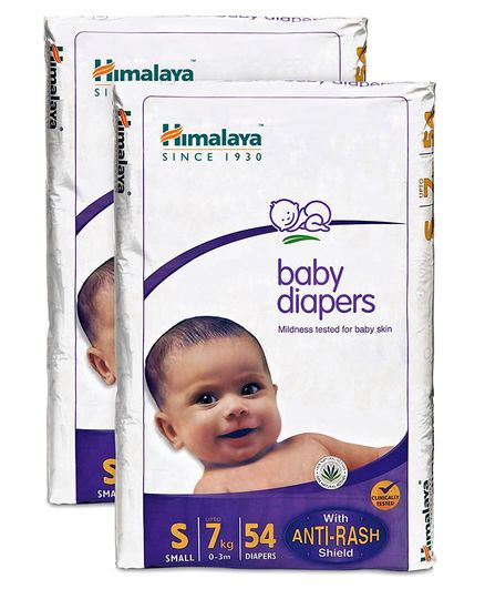 Himalaya Herbal Baby Diapers Small - 54 Pieces ( Pack of 2 )