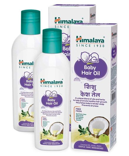 Himalaya Baby Hair Oil - 100 ml Pack Of 2
