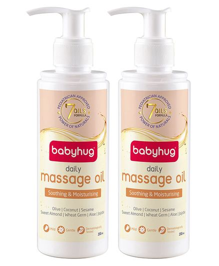 Babyhug Daily Massage Oil 200ml - Pack of 2