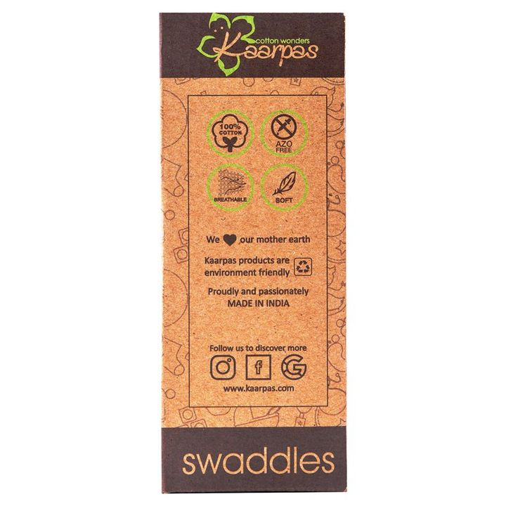 Kaarpas Premium Organic Cotton Muslin Large Swaddle Monkey +info