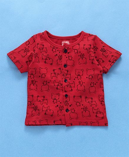 4fc867dff46 Buy Babyhug Half Sleeves Night Suit Bear Print Red for Boys (6-12 Months)  Online in India