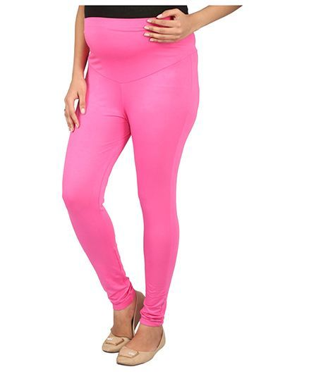 f921a8ac4007e MomToBe Lycra Maternity Leggings Pink (Extra Extra Large) Online in India,  Buy at Best Price from Firstcry.com - 2066476