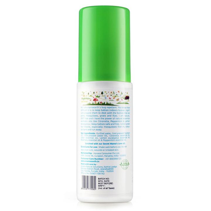 mamaearth Natural Mosquito Repellent Spray With Lemongrass Oil 100 ml  Online in India, Buy at Best Price from Firstcry com - 2071626