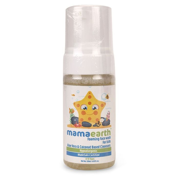 mamaearth Foaming Face Wash With Aloe Vera & Coconut Based Cleansers 120 ml  Online in India, Buy at Best Price from Firstcry com - 2074243