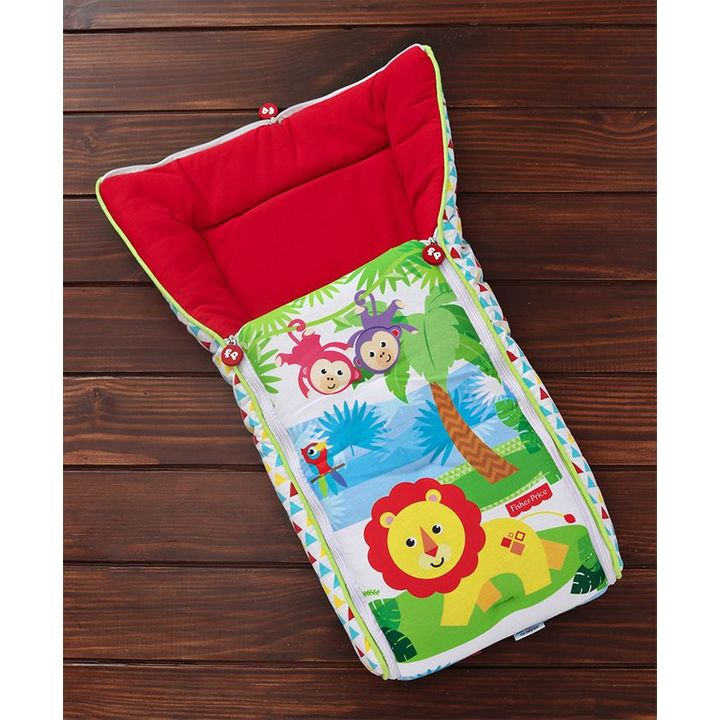 84f6b0077121 Fisher Price 3 in 1 Baby Carry Nest Monkey & Lion Print Red Online in  India, Buy at Best Price from Firstcry.com - 2158353