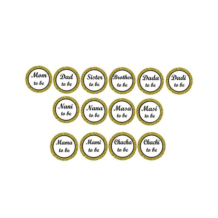 Syga Baby Shower Badges White 14 pieces Online in India, Buy at Best Price  from Firstcry com - 2350289