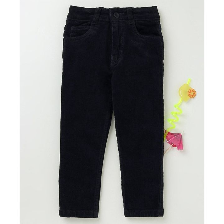 6a35b86cb Buy Babyhug Full Length Corduroy Trouser Navy for Boys (3-4 Years ...