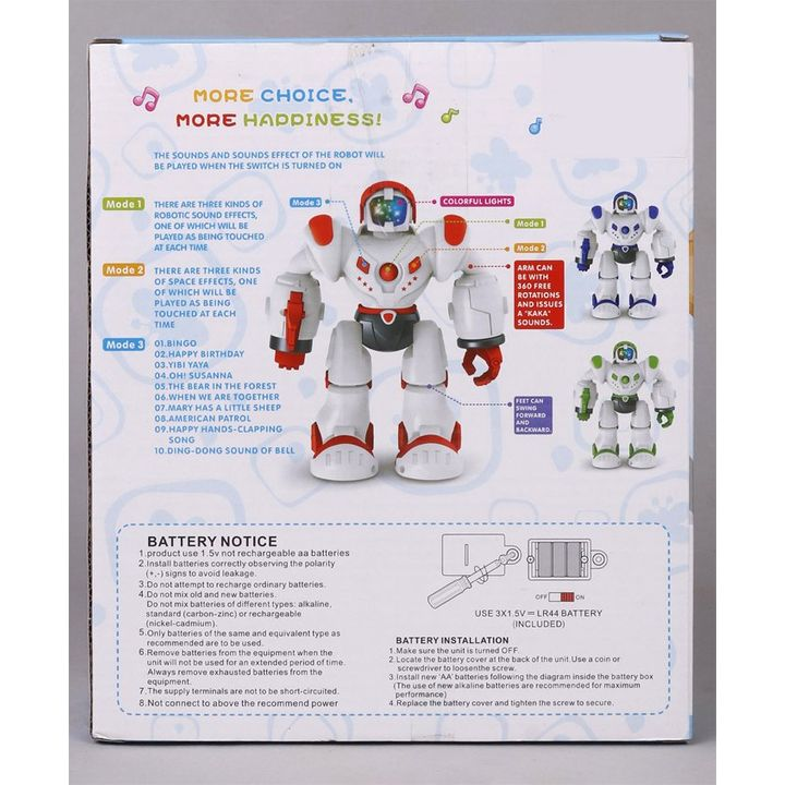 Space Warrior Robot With Light & Music Red Online India, Buy Musical Toys  for (3-10 Years) at FirstCry com - 2467527
