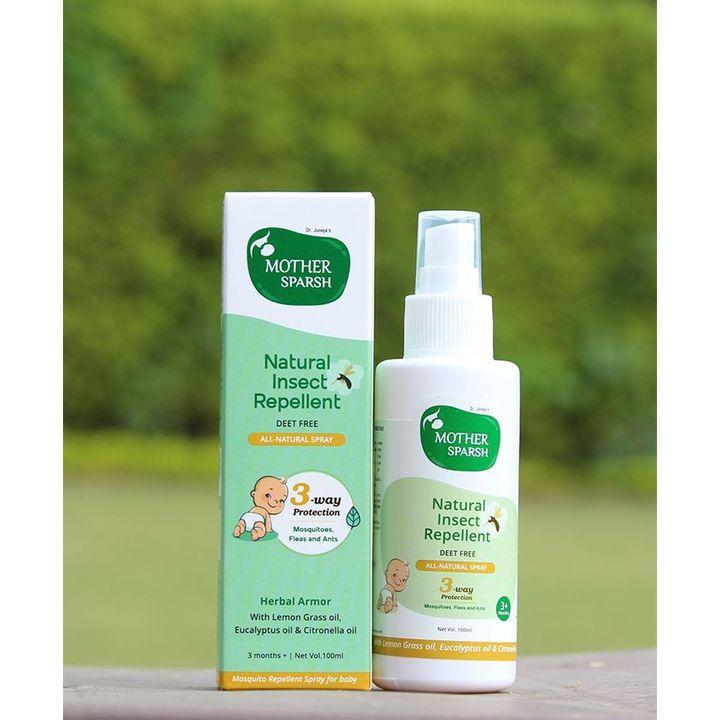 Mother Sparsh Natural Insect Repellent For Babies 100 ml Online in India,  Buy at Best Price from Firstcry com - 2579576