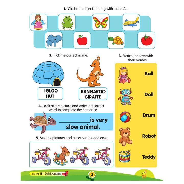 Juniors 151 Activity Book Collection English Maths Science IQ English  Online in India, Buy at Best Price from Firstcry com - 2591399