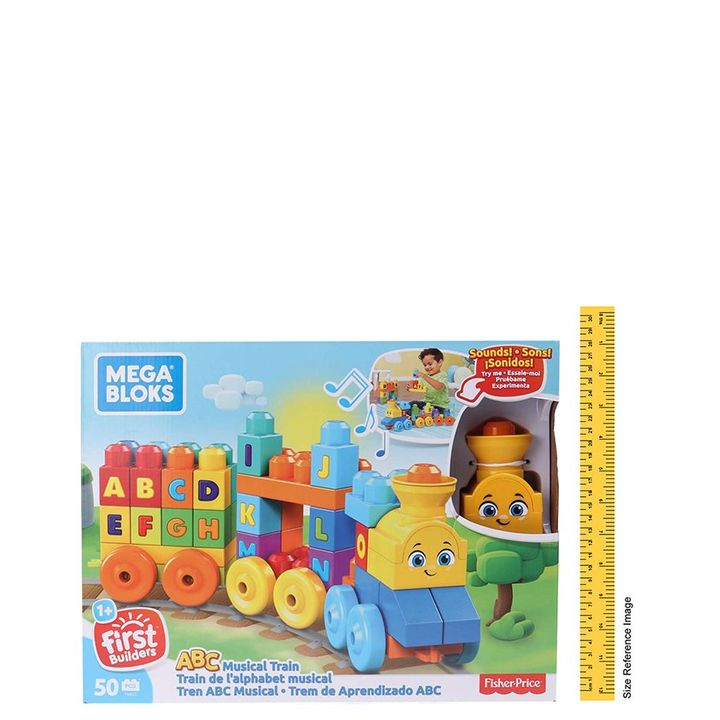 Mega Bloks Musical Train Toy Multicolour - 50 Pieces +info