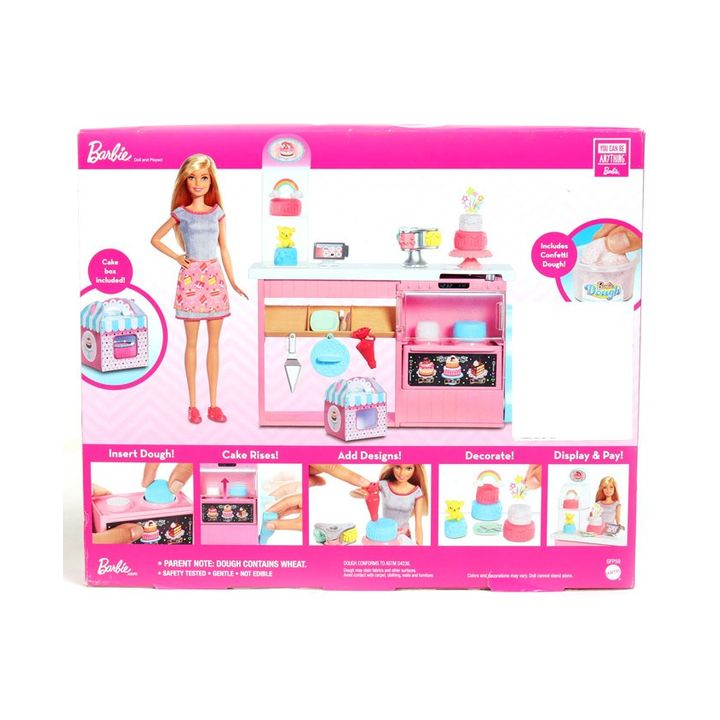 Barbie Cake Decorating Playset Pink Height 30 5 Cm Online India Buy Dolls And Dollhouses For 4 8 Years At Firstcry Com 3457464