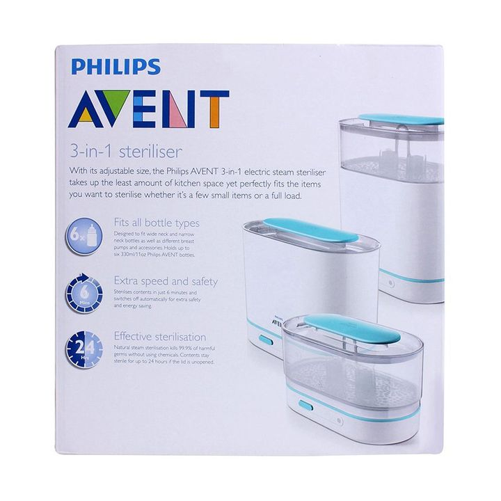 Avent 3in1 Electric Steam Sterilizer Capacity 6 bottles Online in India,  Buy at Best Price from Firstcry com - 55678