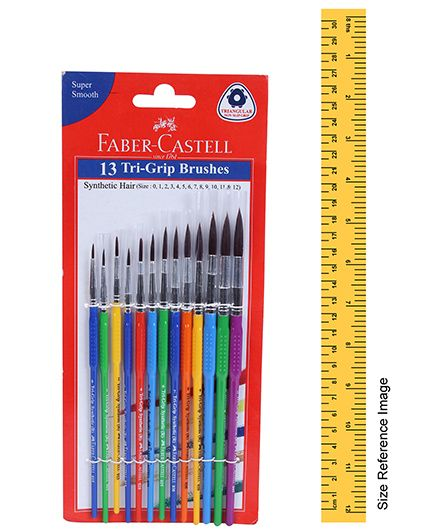 Synth Hair Round Faber Castell Paint Brush Size-3 Pack of 10