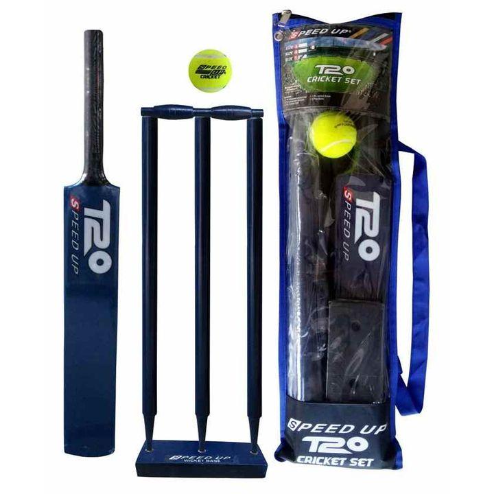 Sd Up T20 Wooden Cricket Combo Set, Cricket Ball Lamp Base