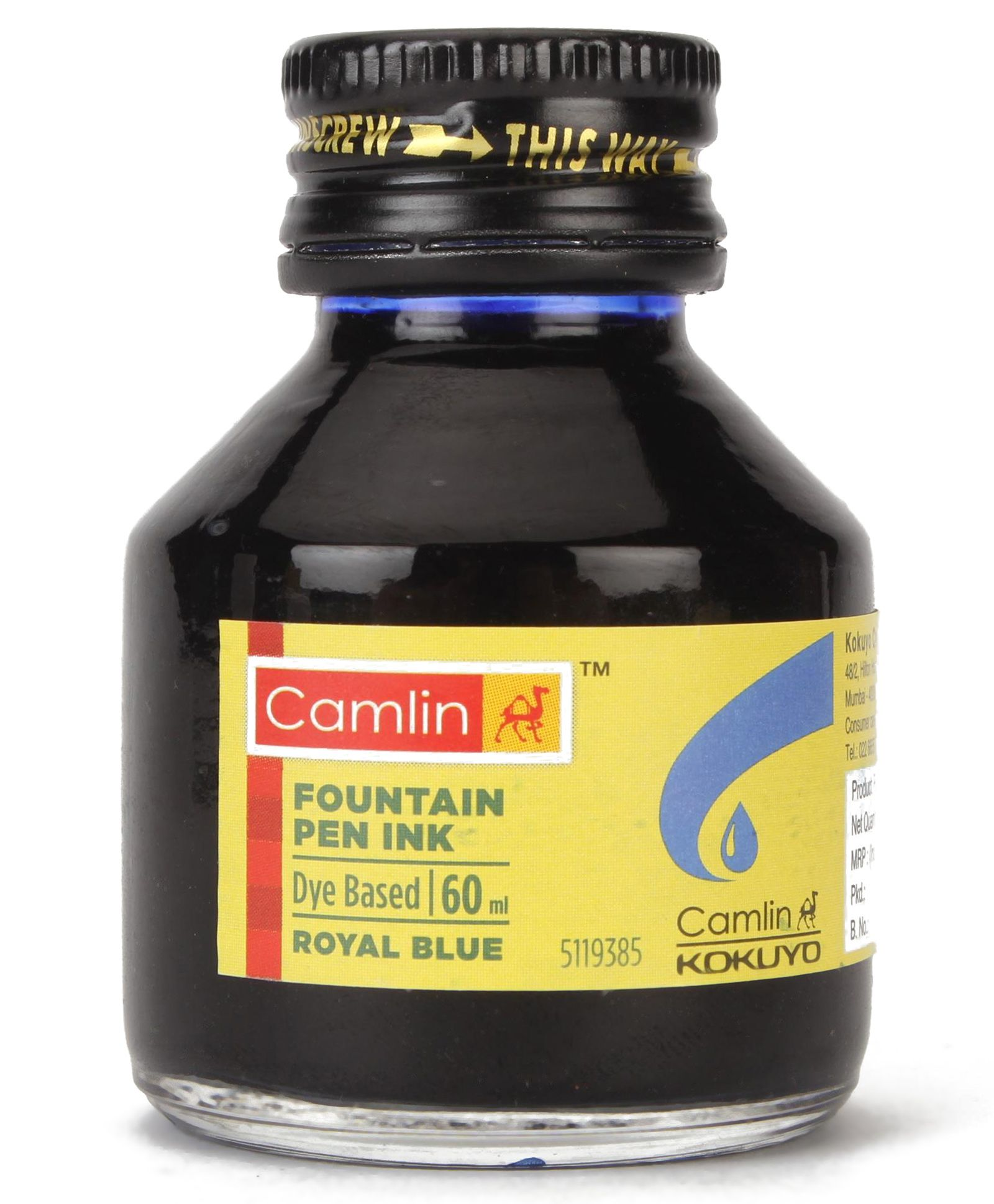 b45f9602f56 Camlin Fountain Pen Ink Royal Blue 60 ml Online in India