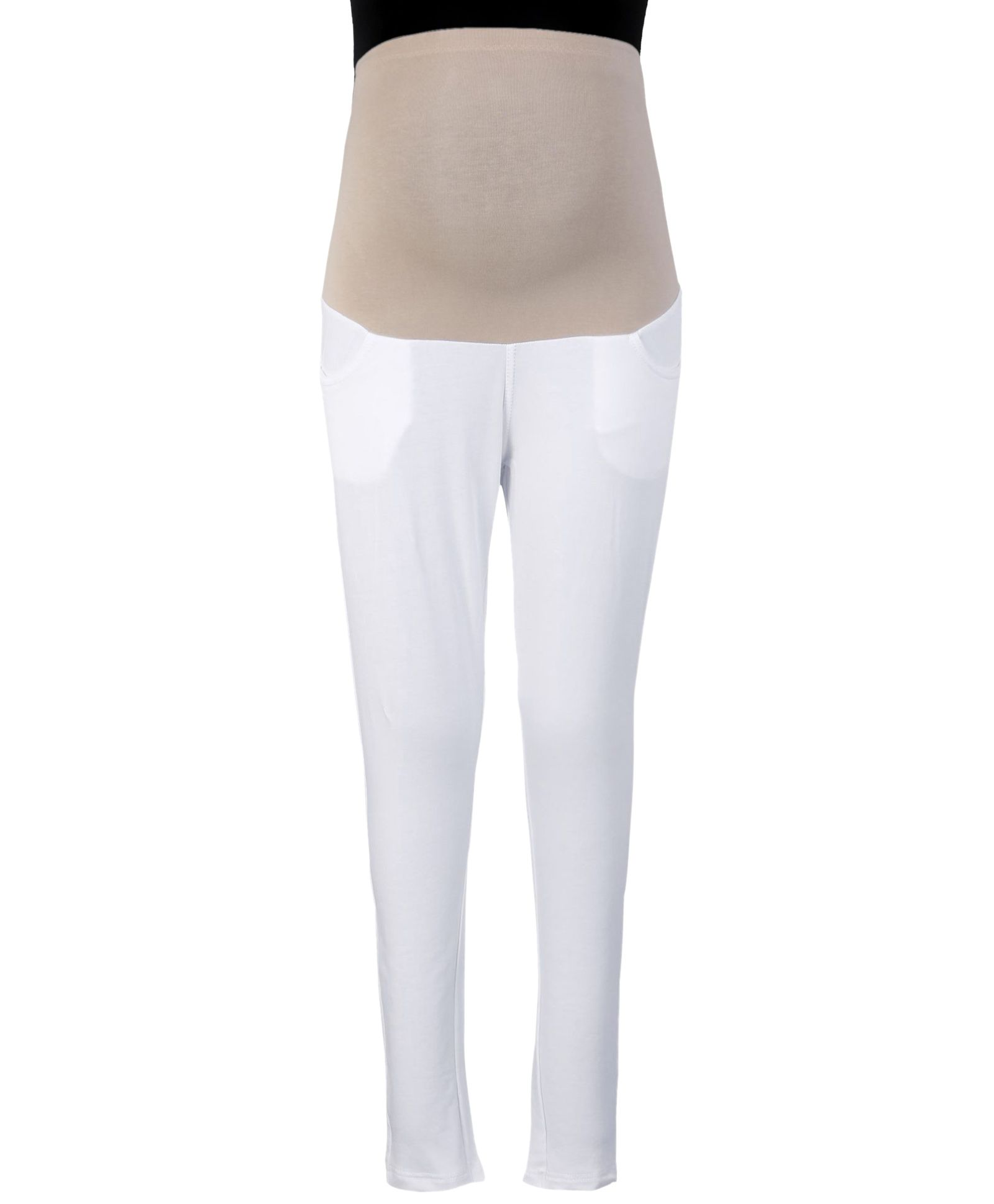c338369546a324 Kriti Ethnic Maternity Jeggings White Online in India, Buy at Best Price ...
