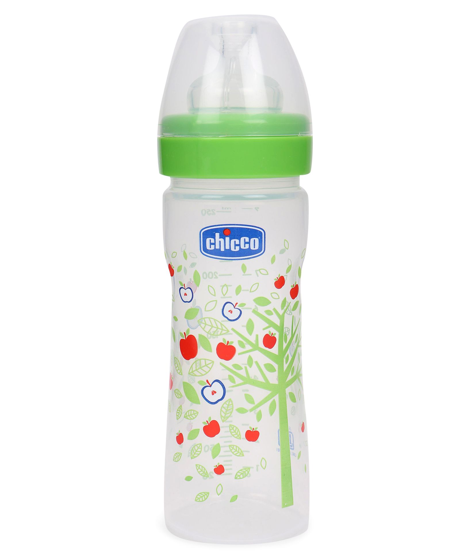 ee192f3e97939 Chicco Wellbeing Feeding Bottle Green 250 ml Online in India, Buy at ...