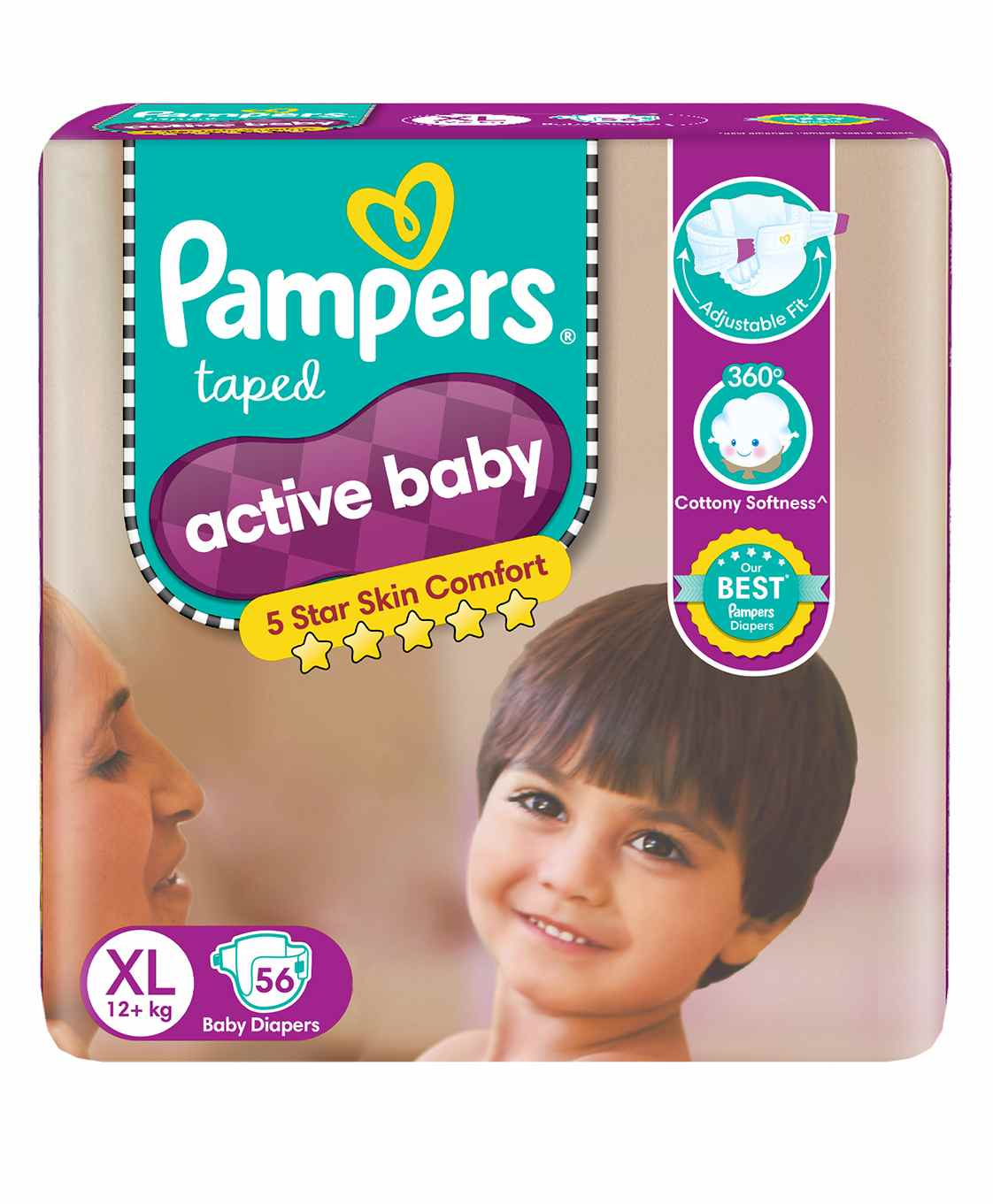 Baby Diapers For Weight 18 To 25 Kg Buy Online At Mamypoko Pants L 28 Pampers Active Extra Large 56 Pieces
