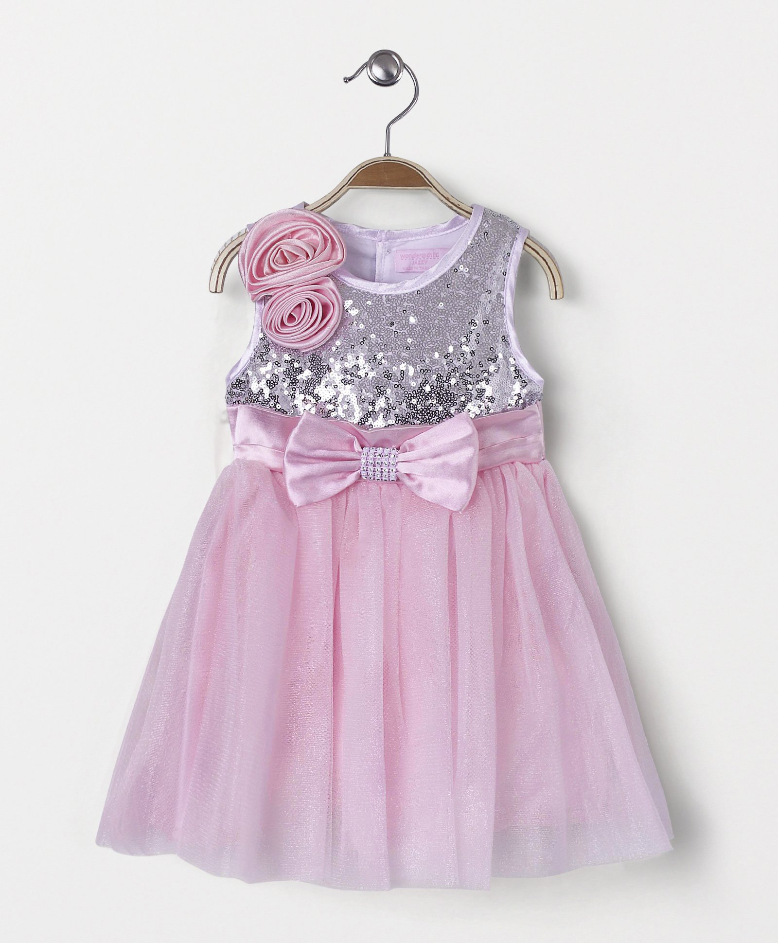 Buy Wonderchild Party Wear Dress With Bow Pink For Girls 6 12
