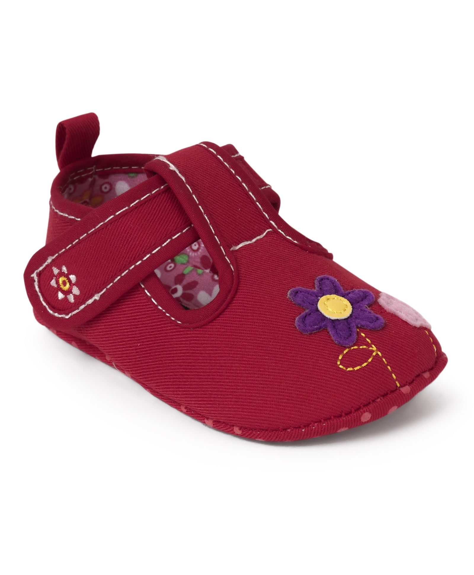0d6d4f83c68 Buy Cute Walk by Babyhug Belly Booties Floral Patch Red for Girls (0-3  Months) Online, Shop at FirstCry.com - 1816210