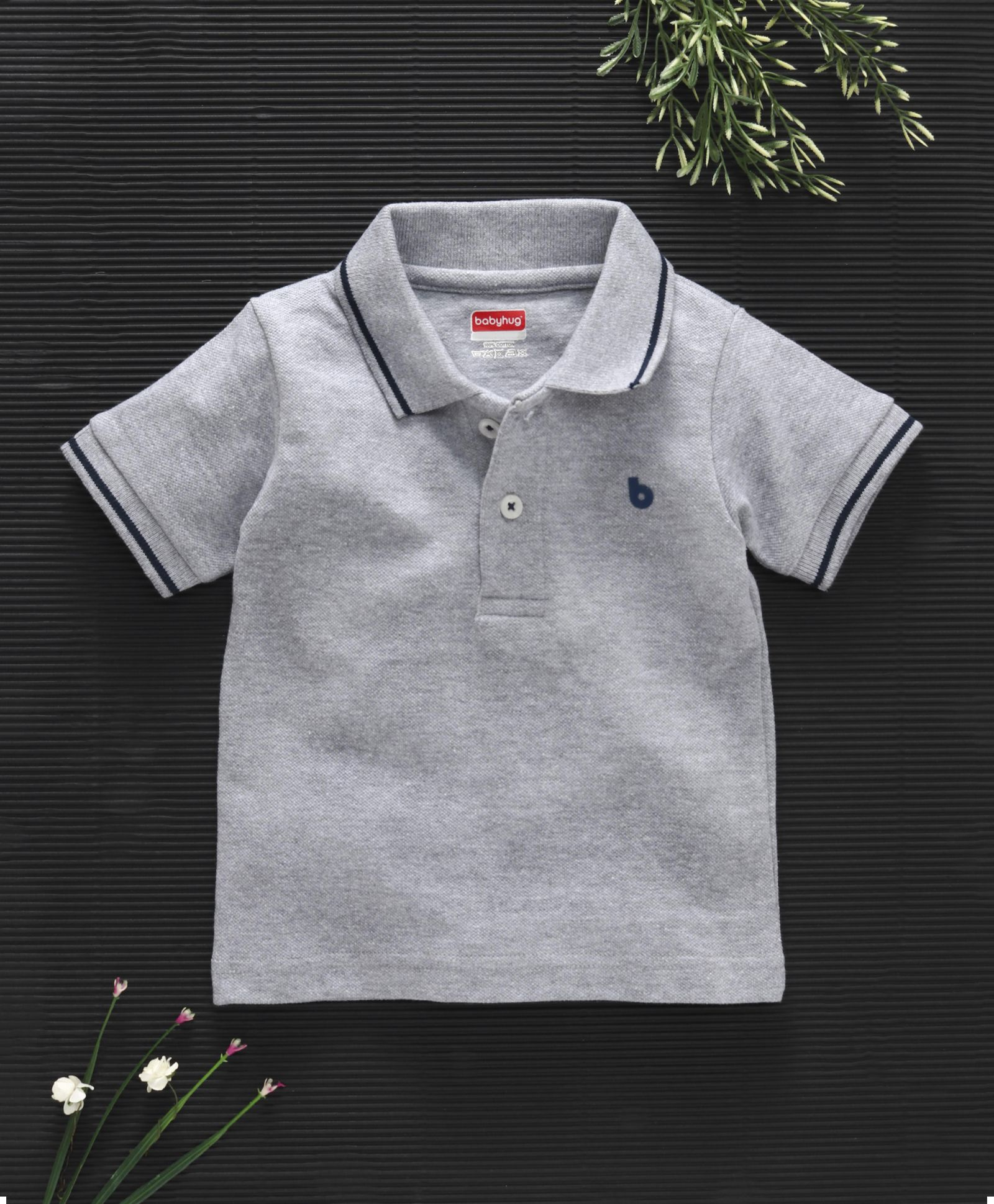 371e4b0eec Buy Babyhug Half Sleeves Cotton Polo TShirt Grey for Boys (4-5 Years)  Online in India, Shop at FirstCry.com - 1844518