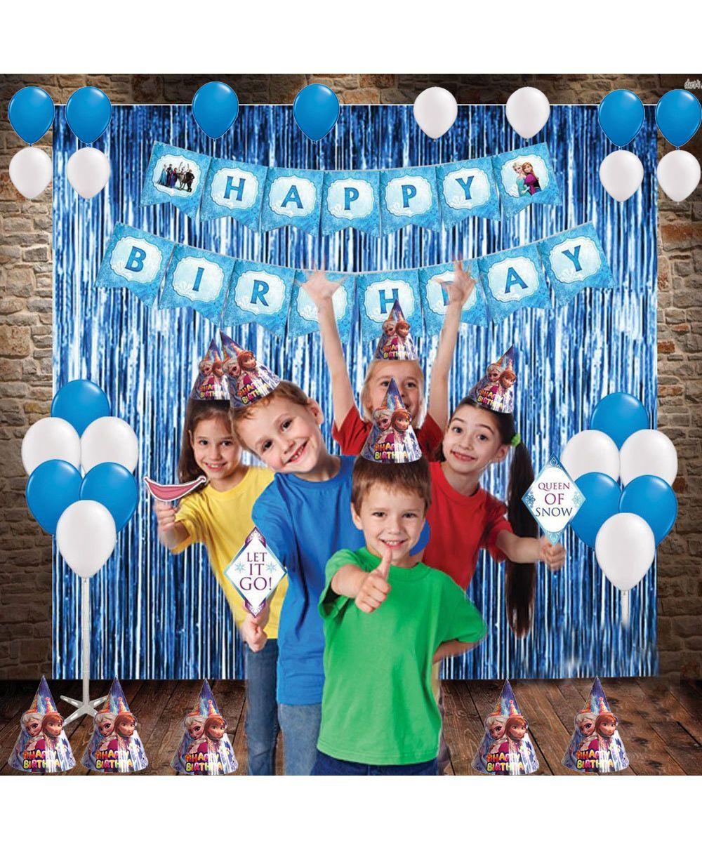 Party Propz Birthday Decoration Set Disney Frozen Theme Blue White